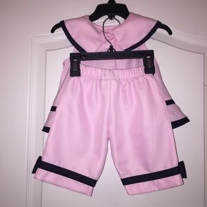 Rare Editions Matching Sets - Rare Editions Baby Girl Pink Sailor Outfit